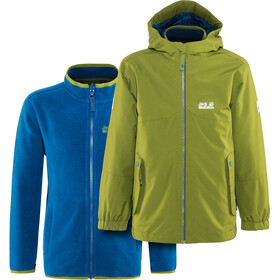 Jack Wolfskin B Iceland Giacca 3in1 Bambino, cypress green
